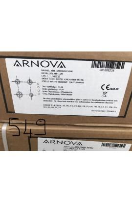 Arnova Spot Ankastre Set üstü Beyaz Cam Ocak - Kaan SPOT
