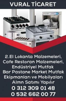 2.El Lokanta Cafe Restoran Malzemeleri Alanlar Endüstriyel Mutfak Ankara - Vural Ticaret Kartvizit